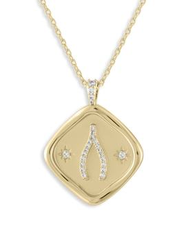X Kristina Schulman Luck Crystal Pendant Necklace by Lulu Dk