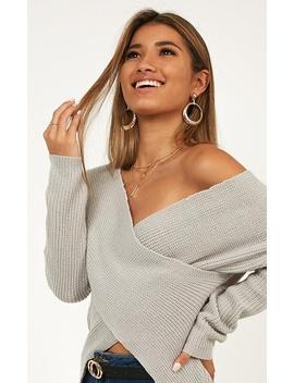 Lovelight Knit Top In Grey by Showpo Fashion