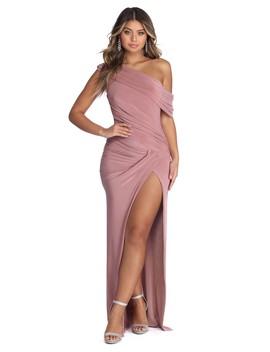 Maren Formal Asymmetrical Ruched Dress by Windsor
