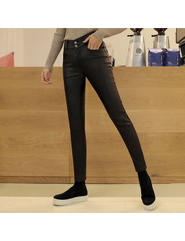 Click   Fleece Lined Faux Leather Pants by Click