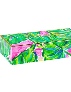 "Lily Pulitzer ""Life's A Party"" Lacquer Palm Box   Nwt by Lilly Pulitzer"