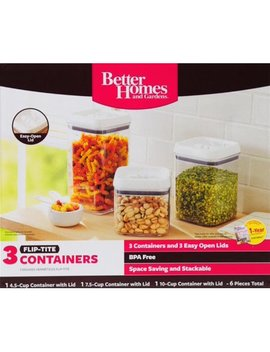 Better Homes & Gardens Flip Tite Containers, Set Of 3 by Better Homes & Gardens