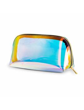 Holographic Makeup Bag Iridescent Cosmetic Bag Hologram Clutch Large Toiletries Pouch Holographic Handy Makeup Pouch Wristlets Organizer Women Evening Bag … by Frebeauty