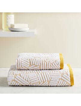 Organic Dashed Lines Sculpted Towels   Dark Horseradish by West Elm