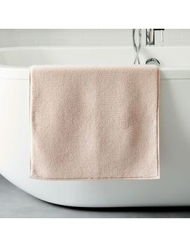 Organic Luxe Fibrosoft™ Bath Mat   Pink Blush by West Elm