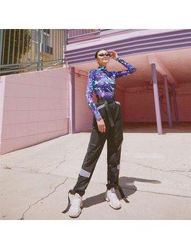 Gia Autumn 2018 3 M Hip Hop High Waist Pants Streetwear Women Night Shine Long Pants  Trousers Capri Loose Pants Women Clubwear by Orsherlly