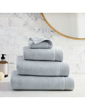 Organic Luxe Fibrosoft™ Towels   Sea Salt Blue by West Elm