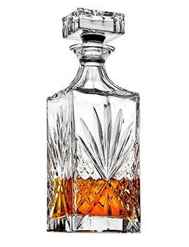 Whiskey Decanter For Scotch, Liquor, Vodka, Wine Or Bourbon   Irish Cut 750ml by Lefonte