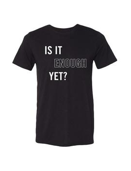 Is It Enough Black Tee by Chvrches