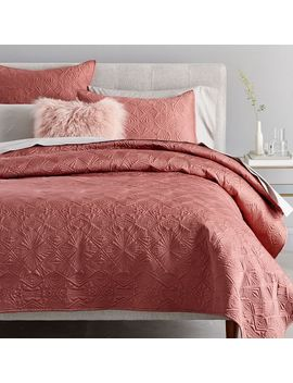 Diamond Burst Quilt + Shams   Pink Grapefruit by West Elm