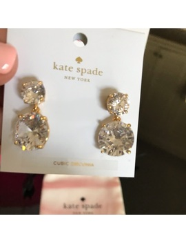 Kate Spade ♠️  Nwt Faux Rhinestone Drop Earrings   Nwt by Kate Spade