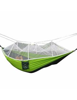 Rusee Camping Hammock, Mosquito Net Outdoor Hammock Travel Bed Lightweight Parachute Fabric Double Hammock For Indoor, Camping, Hiking, Backpacking, Backyard by Rusee