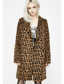 Wanna Play Leopard Coat by Sans Souci Clothing