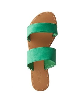 Double Strap Slide Sandals by Charlotte Russe