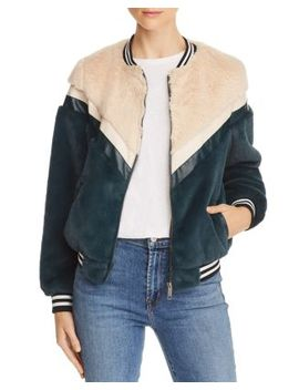 Florence Faux Fur Bomber Jacket by Apparis