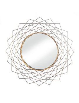 Wrought Studio Blackmon Golden Geometric Wall Accent Mirror by Wrought Studio