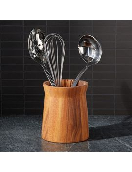 Acacia Utensil Holder by Crate&Barrel