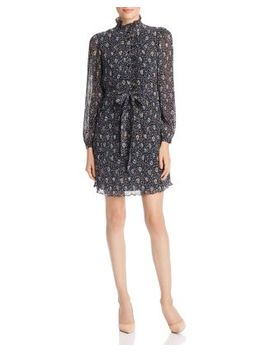 Deneuve Floral Plissé Dress by Tory Burch