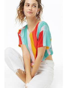 Multistriped Boxy Top by Forever 21