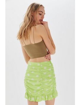 Uo Sasha Ruched Ruffle Mini Skirt by Urban Outfitters