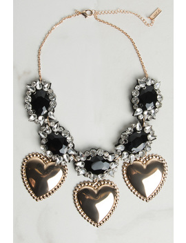 Rose Water Statement Heart Necklace by Akira