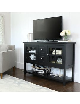"52"" Wood Console Table Buffet Tv Stand For Tv's Up To 55"", Multiple Finishes by Walker Edison"