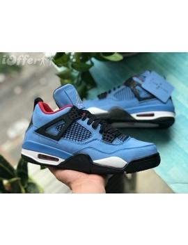 Aj4 X Travis Scott Cactus Jack Chammy Basketball Shoes by I Offer