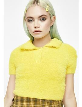 Sunny Disposition Fuzzy Top by Hot  Delicious