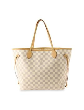 Neverfull Mm Damier Azur Blue Coated Canvas Tote by Louis Vuitton