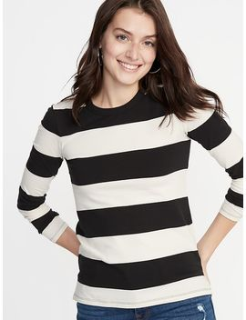 Slim Fit Striped Tee For Women by Old Navy