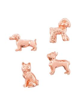 Three By Three Copper Dog Cast Iron Magnets Pkg by Three Copper Dog Cast Iron Magnets Pkg/4