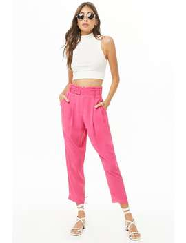Solid Paperbag Pants by Forever 21