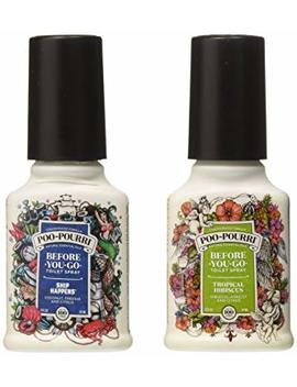 Poo Pourri Before You Go Toilet Spray, Beach Bum Set Of 2, Ship Happens & Tropical Hibiscus Scent by Poo Pourri