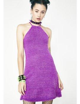 Freeky Deeky Fuzzy Dress by Current Mood
