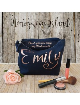 Wedding Thank You Gift   Personalised Bridesmaid Gift, Makeup Bag   Maid Of Honour Gift   Unique Gift For Bridal Party, Makeup Cosmetic Bags by Etsy