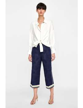Contrasting Jacquard Pants  View All Pants Woman Sale by Zara