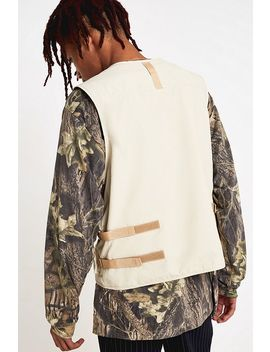 Uo Beige Military Gilet by Urban Outfitters