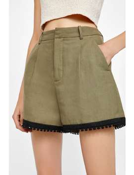 Shorts With Contrasting Band  Shortswoman Sale by Zara