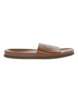 Marcus Leather Slides by Blaq