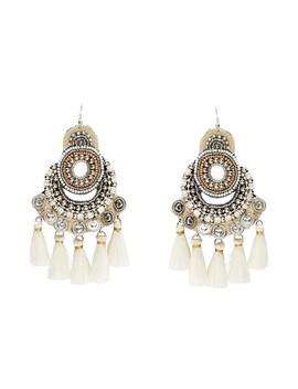 White Carnival Earrings by Sportsgirl
