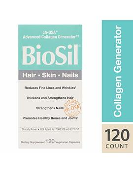 Bio Sil Hair, Skin, Nails, Natural Nourishment For Your Body's Beauty Proteins, Vegan, 120 Capsules (Ffp) by Natural Factors