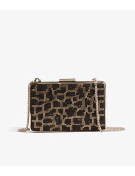 Leopard Embellished Box Clutch by Gd200