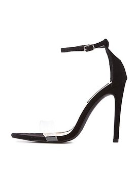 Clear Ankle Strap Stilettos by Charlotte Russe