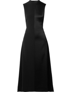 Open Back Satin Crepe Midi Dress by Peter Do
