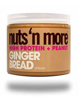 Nuts 'n More Ginger Bread Peanut Butter Spread, High Protein, Great Tasting, All Natural Sports Nutrition, 16 Oz Jar by Nuts 'n More