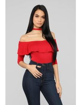 Somewhere To Go Top   Red by Fashion Nova