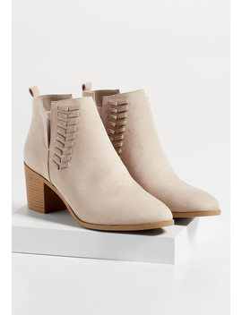 Tia Whipstitch Bootie by Maurices