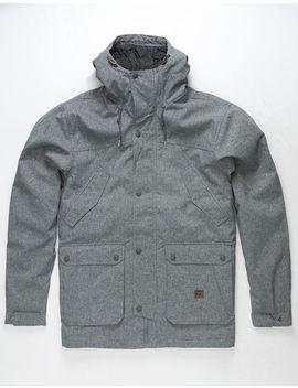 billabong-alves-10k-black-heather-mens-parka-jacket by billabong