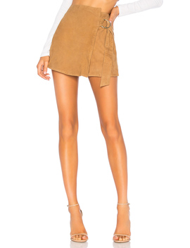 Suede Mini Wrap Skirt by Understated Leather