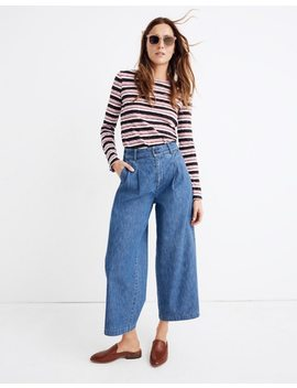 Pleated Wide Leg Jeans by Madewell